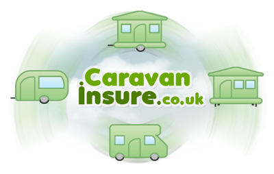 Four Caravans spinning around our Caravan Insure logo